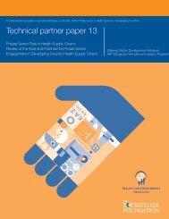 Technical partner paper 13 - The Center for Health Market Innovations
