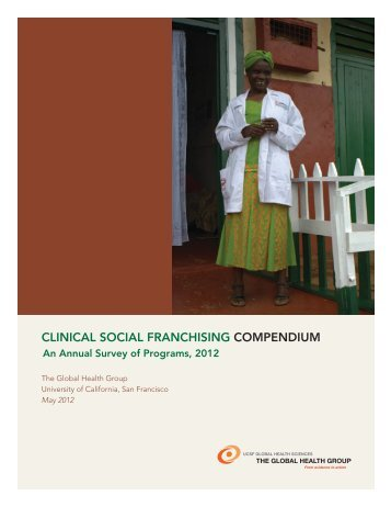 clinical social franchising compendium - The Center for Health ...