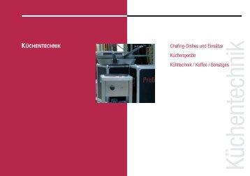 Chafing-Dishes und Einsätze Küchengeräte Kühltechnik / Kaffee ...