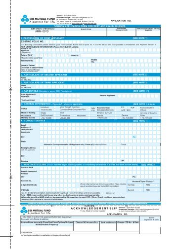 Debt Application Form