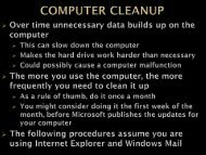 Computer Cleanup