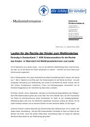 Medieninformation - Deutscher Kinderschutzbund Landesverband ...
