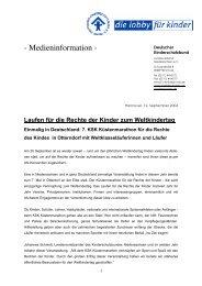 Medieninformation - Deutscher Kinderschutzbund Landesverband ...