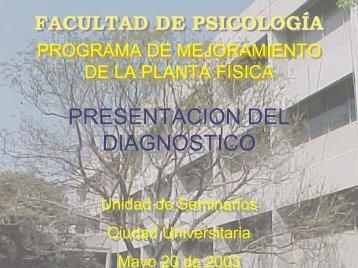 PROGRAMA DE MEJORAMIENTO DE LA PLANTA FÍSICA ...