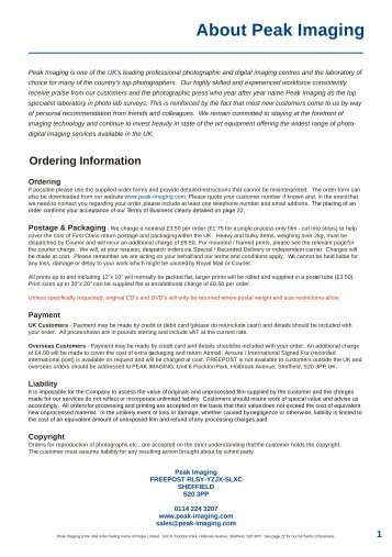 Price Guide 2013 PDF Ready.cdr - Peak Imaging