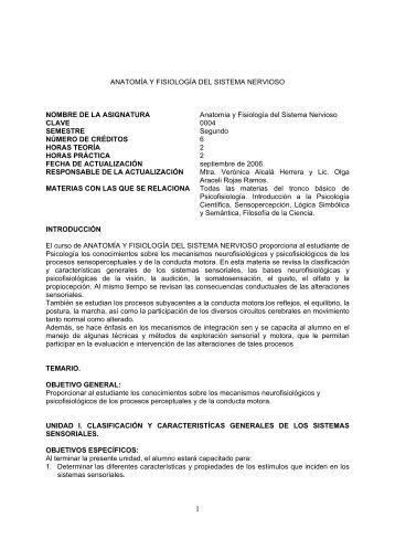 (anatomía y fisiología) - UNAM