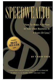 Speed Wealth (T. Harv Eker) - www.frankthebank.eu