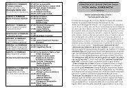 Avvisi della 6^ settimana dal 5 all' 11 feb. 2012 - Parrocchia Bariano