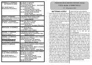 Avvisi della 3^ settimana dal 13 al 20 gen. 2013 - Parrocchiabariano.it