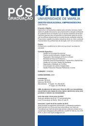 GESTÃO EDUCACIONAL EMPREENDEDORA - Unimar