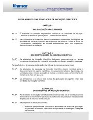 regulamento das atividades de iniciação científica - Unimar
