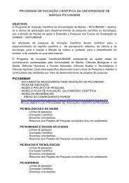 PROGRAMA DE INICIAÇÃO CIENTÍFICA DA ... - Unimar