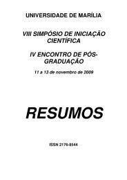 VIII SIMPÓSIO DE INICIAÇÃO CIENTÍFICA IV ENCONTRO ... - Unimar