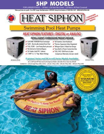 Heat Siphon Swimming Pool Heat Pumps - 5HP ... - Olympic Pools
