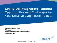 Orally Disintegrating Tablets