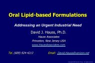 Lipid-based Systems for Oral Drug Delivery - New Jersey Center for ...