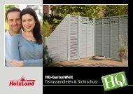 HQ-GartenWelt Terrassendielen & Sichtschutz