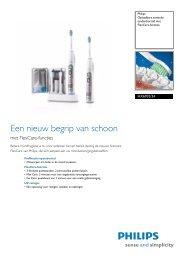 HX6932/34 Philips Oplaadbare sonische tandenborstel met ...