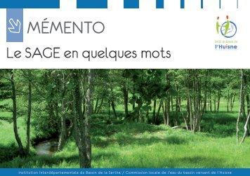 MÉMENTO - (SAGE) du bassin de l'Huisne