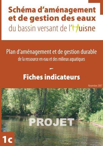 Fiches indicateurs - (SAGE) du bassin de l'Huisne