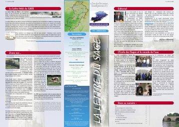 Editorial Dans ce numéro : Zoom sur... La Lettre Web du SAGE L ...