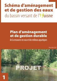 Plan d'aménagement et de gestion durable - (SAGE) du bassin de l ...