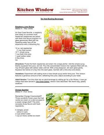 Raspberry Lime Rickey - Kitchen Window