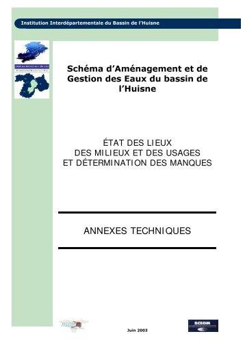 ANNEXES TECHNIQUES - (SAGE) du bassin de l'Huisne