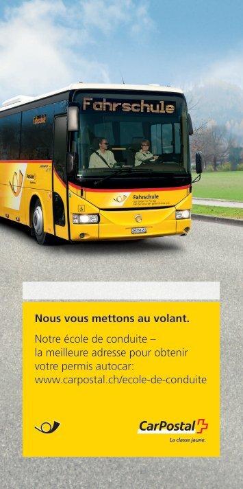 Brochure Ecole de conduiteLe lien est ouvert - CarPostal