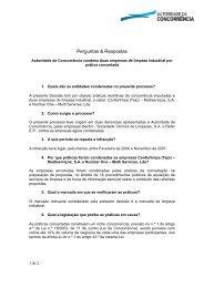Perguntas & Respostas - Autoridade da Concorrência