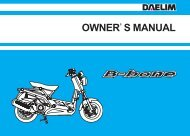Daelim B-Bone Owners Manual - Mojo Motorcycles