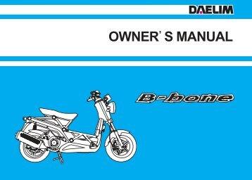 Daelim B-Bone Owners Manual - Mojo Motorcycles