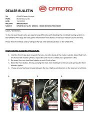 CF2012-023T - CFMOTO BRAKE BLEEDING ... - Mojo Motorcycles