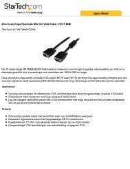 20m Coax Hoge Resolutie Monitor VGA Kabel - HD15 M/M StarTech ...