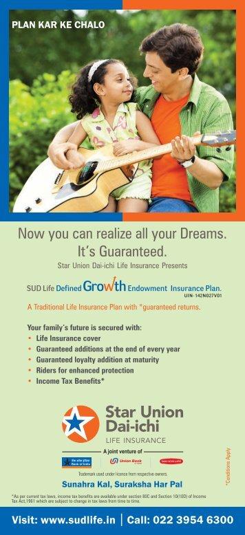 to download brochure - Star Union Dai-ichi Life Insurance Co. Ltd.