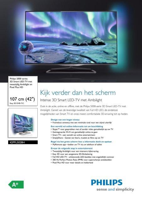 42PFL5028H/12 Philips 3D Smart LED-TV met ... - Icecat.biz
