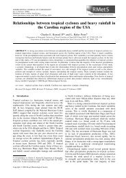 Relationships between tropical cyclones and heavy rainfall in the ...