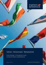 Fahnen Kössinger Flaggenkatalog