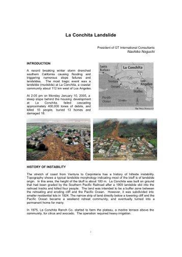 La Conchita Landslide - international sabo network