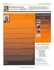 What's Happening? - International Ballistics Society