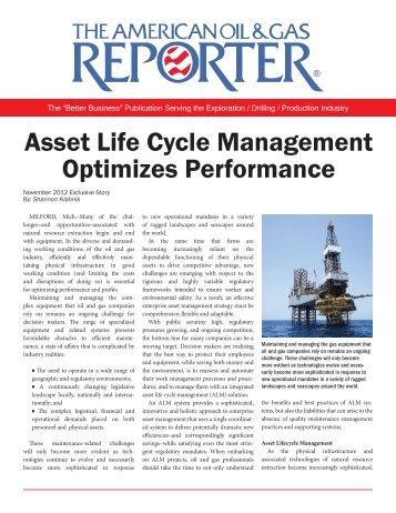 Asset Life Cycle Management Optimizes Performance - mipro
