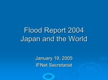 Japan / World's Floods in 2004 - International Flood Network