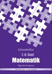 Matematik 7-8. Sınıf - talim terbiye dairesi müdürlüğü
