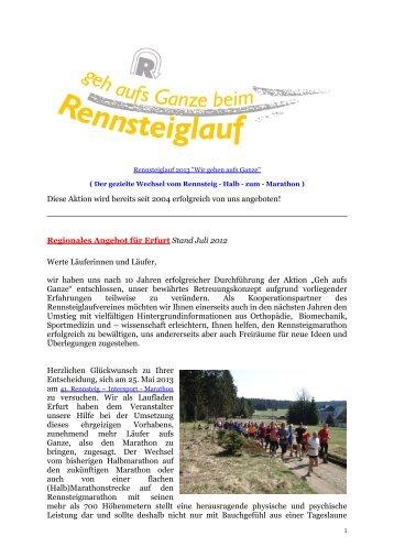 Sehr geehrter Sportfreund - Laufladen Erfurt