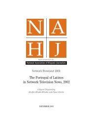 NAHJ 2003 Network Brownout Report