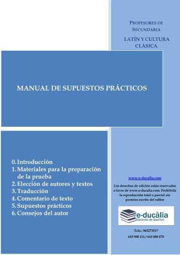 MANUAL DE SUPUESTOS PRÁCTICOS