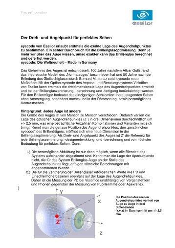 6b3ce04b3c5 Pressemeldung eyecode Optometrie - Essilor GmbH