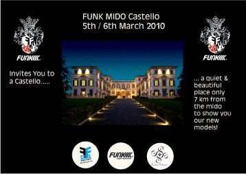 Invitation to the FUNK castle Milan Mido show