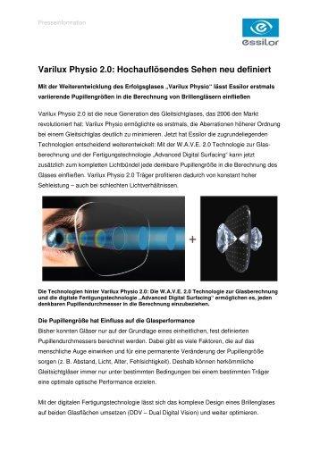 96847f9eeca Varilux Physio 2.0  Hochauflösendes Sehen neu ... - Essilor GmbH