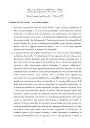 Relazione di Pierre Carniti - Provincia solidale